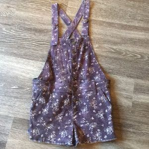 Free People Corduroy Shortalls